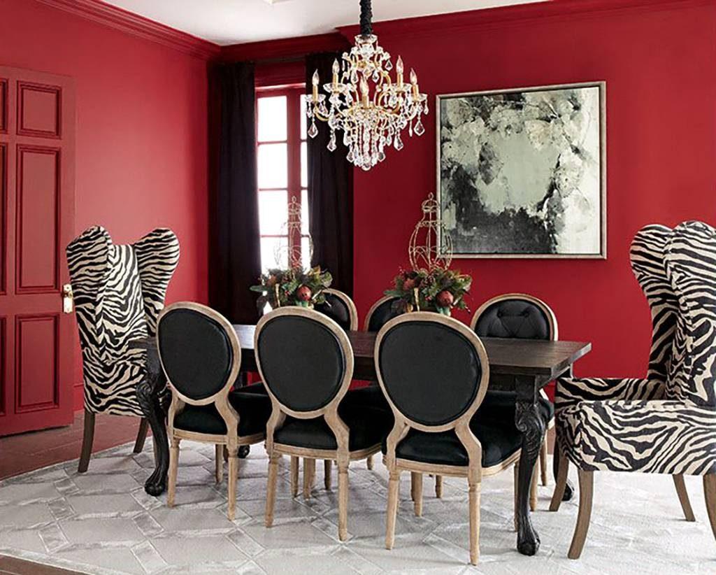 رنگ قرمز در دکوراسیون اتاق ناهارخوری 1