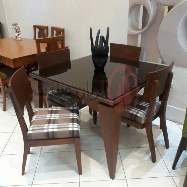 صندلی چوبی ابرون ، میز چوبی ابرون