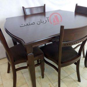صندلی چوبی درنا ، میز چوبی درنا