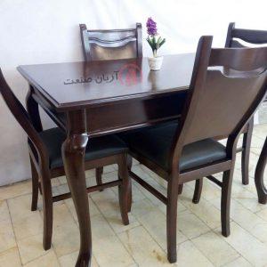 صندلی چوبی ابرویی ، میز ناهارخوری چوبی خرچنگی