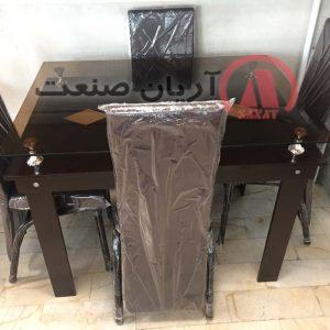 صندلی پرنس فلزی ، میز ام دی اف