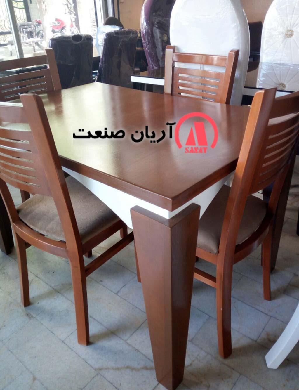 میز ام دی اف و صندلی چوبی