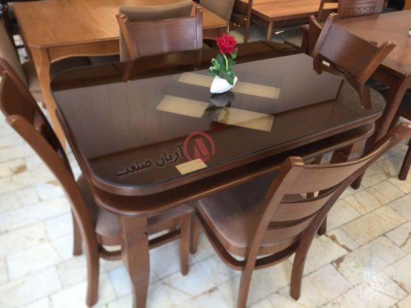 صندلی چوبی مونا ، میز چوبی ارکیده