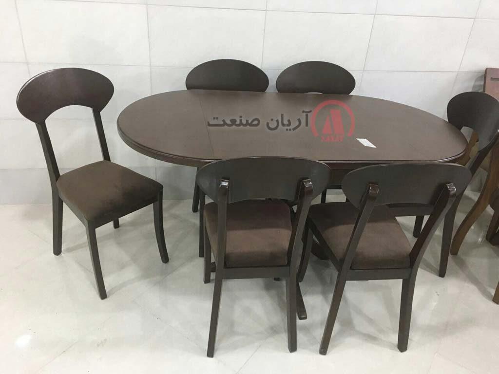 میز بیضی تاشو پونه
