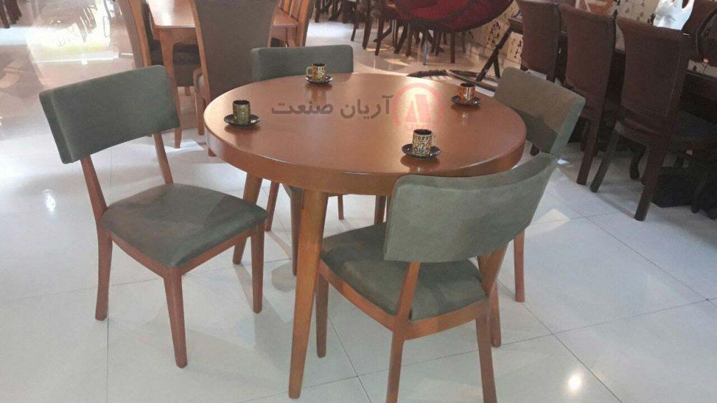 صندلی چوبی بلوط ، میز ناهارخوری چوبی بلوط