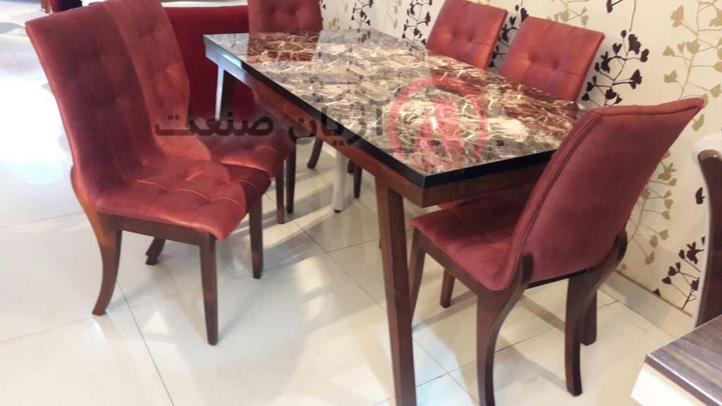 صندلی چوبی لوییز ، میز ناهارخوری چوبی پایه خم