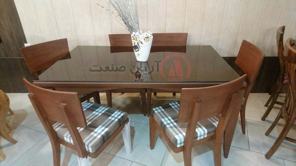 صندلی ابرون ، میز ناهارخوری 6 نفره ابرون