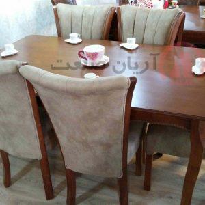 صندلی چوبی سون جدید ، میز چوبی النا