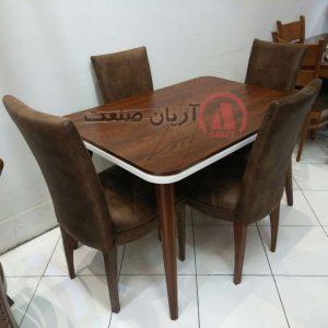 صندلی چوبی اتللو کف دوخت دار ، میز چوبی ضربدری