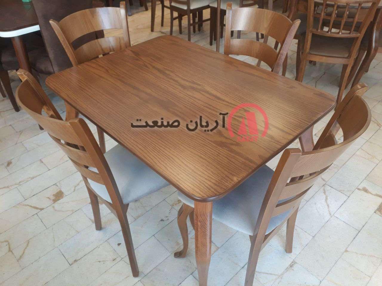 صندلی چوبی آلاله ، میز چوبی الیزه