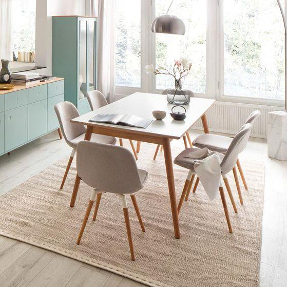 میز ناهارخوری ساده به سبک اسکاندیناوی