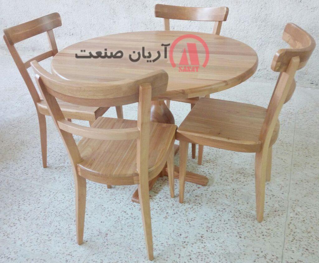 میز ناهارخوری تمام چوب راش جدید