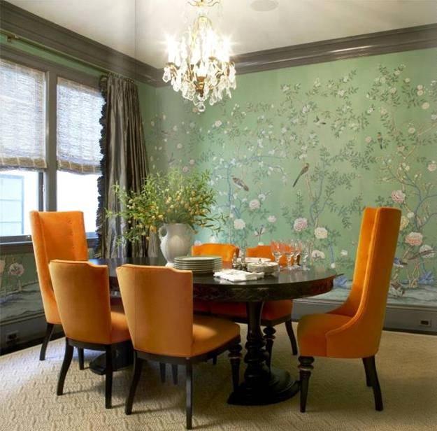 ترکیب رنگ دکوراسیون اتاق ناهارخوری