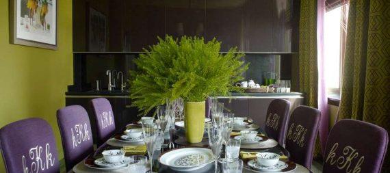ترکیب بنفش و سبز در دکوراسیون