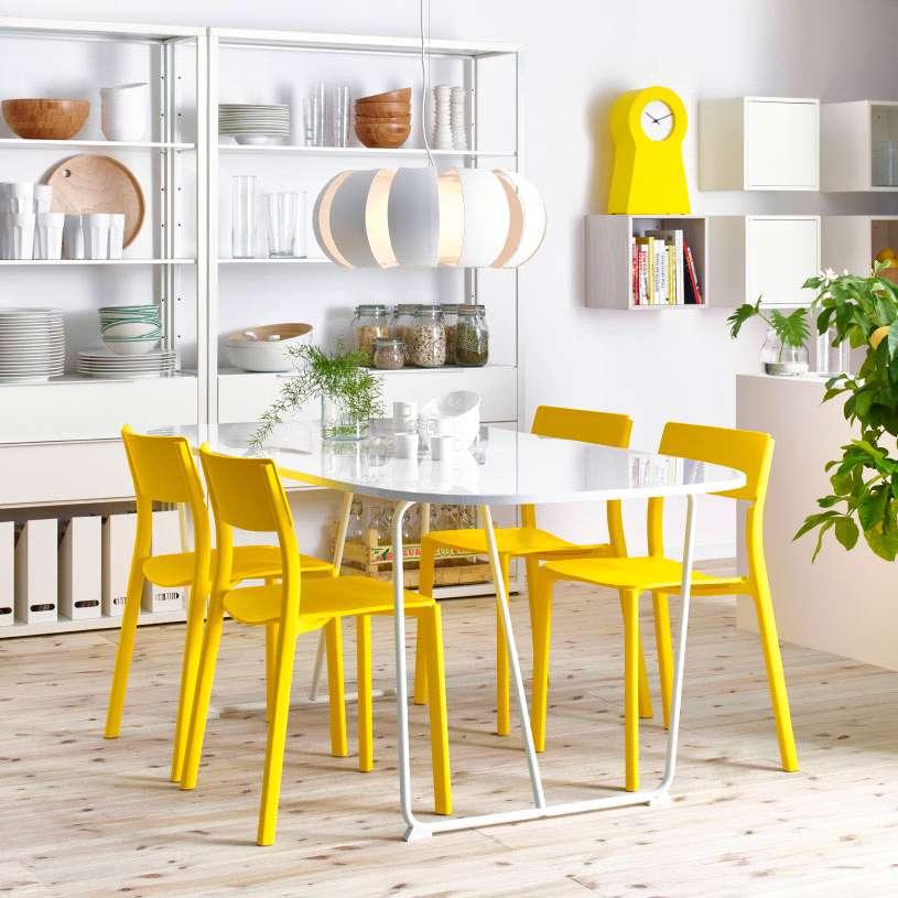 ترکیب سفید و زرد در دکوراسیون