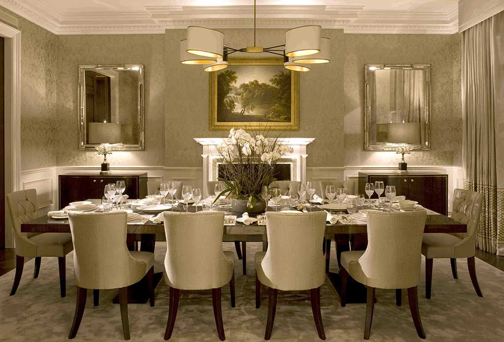 میز ناهارخوری شیک با تلفیق سبک کلاسیک و مدرن