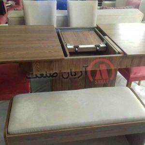 میز ناهارخوری کشویی ، میز ناهارخوری باکس دار