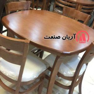صندلی جوبی ، میز چوبی مربع ، میز مربع