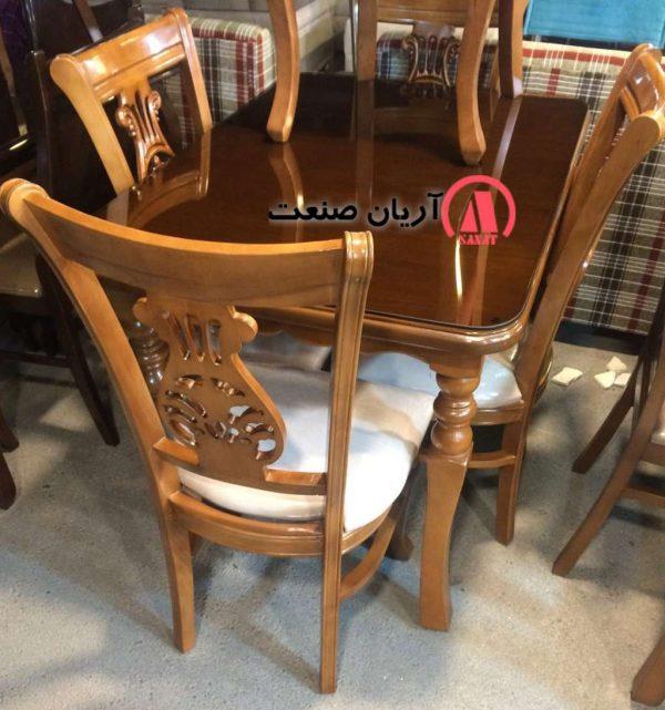 میز و صندلی منبت کاری