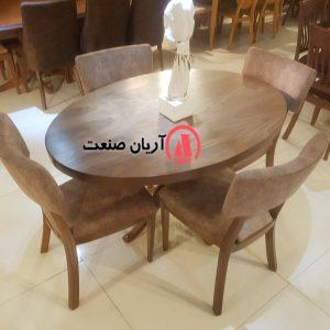 میز ناهار خوری چوبی جدید