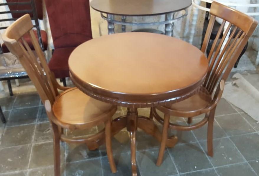صندلی لهستانی بلند ، میز 2 نفره