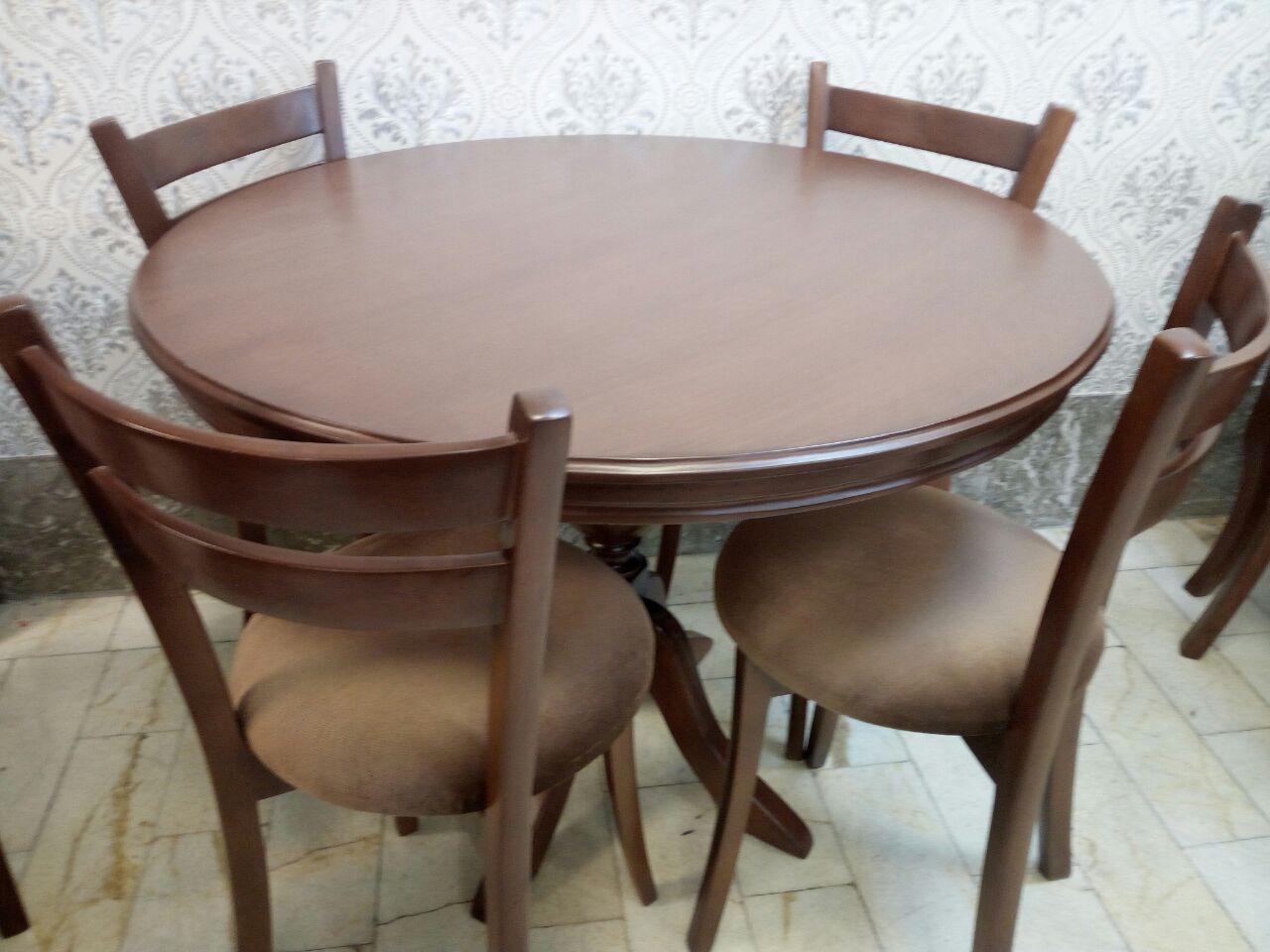 میز دو نفره چوبی