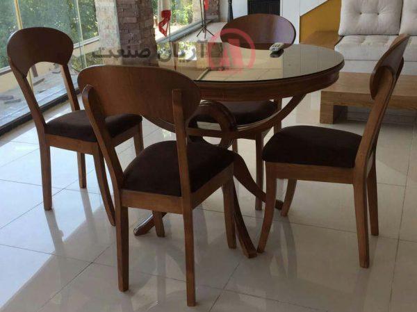 صندلی چوبی پونه ، میز چوبی قایقی
