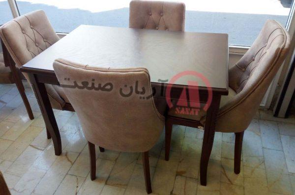 صندلی چوبی لندن ، میز ناهارخوری چوبی خط دا