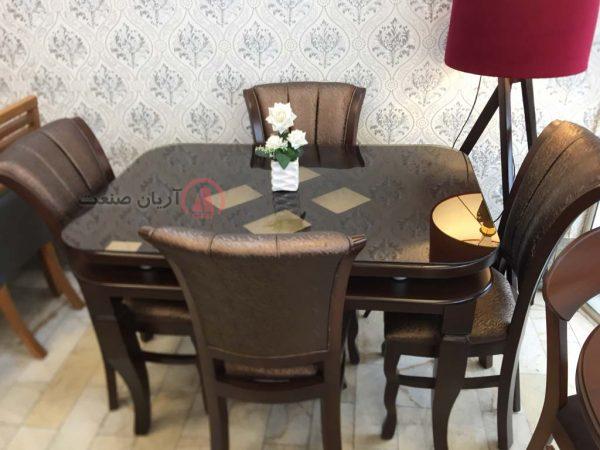 صندلی پرنس چوبی ، میز چوبی ارکیده