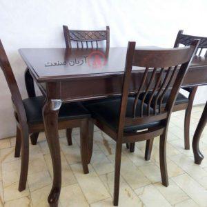 صندلی چوبی خشتی ، میز ناهارخوری چوبی خرچنگی