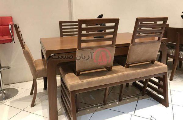 صندلی چوبی نگین ، میز چوبی نگین ، نیمکت چوبی متحرک نگین
