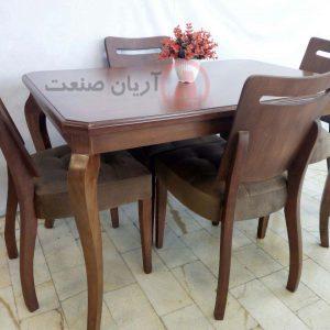 صندلی چوبی رویال ، میز ناهارخوری چوبی کوئین
