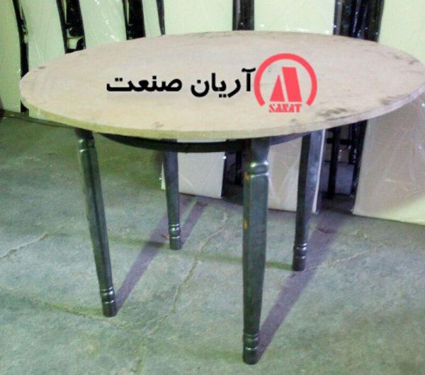 میز گرد پایه خراطی